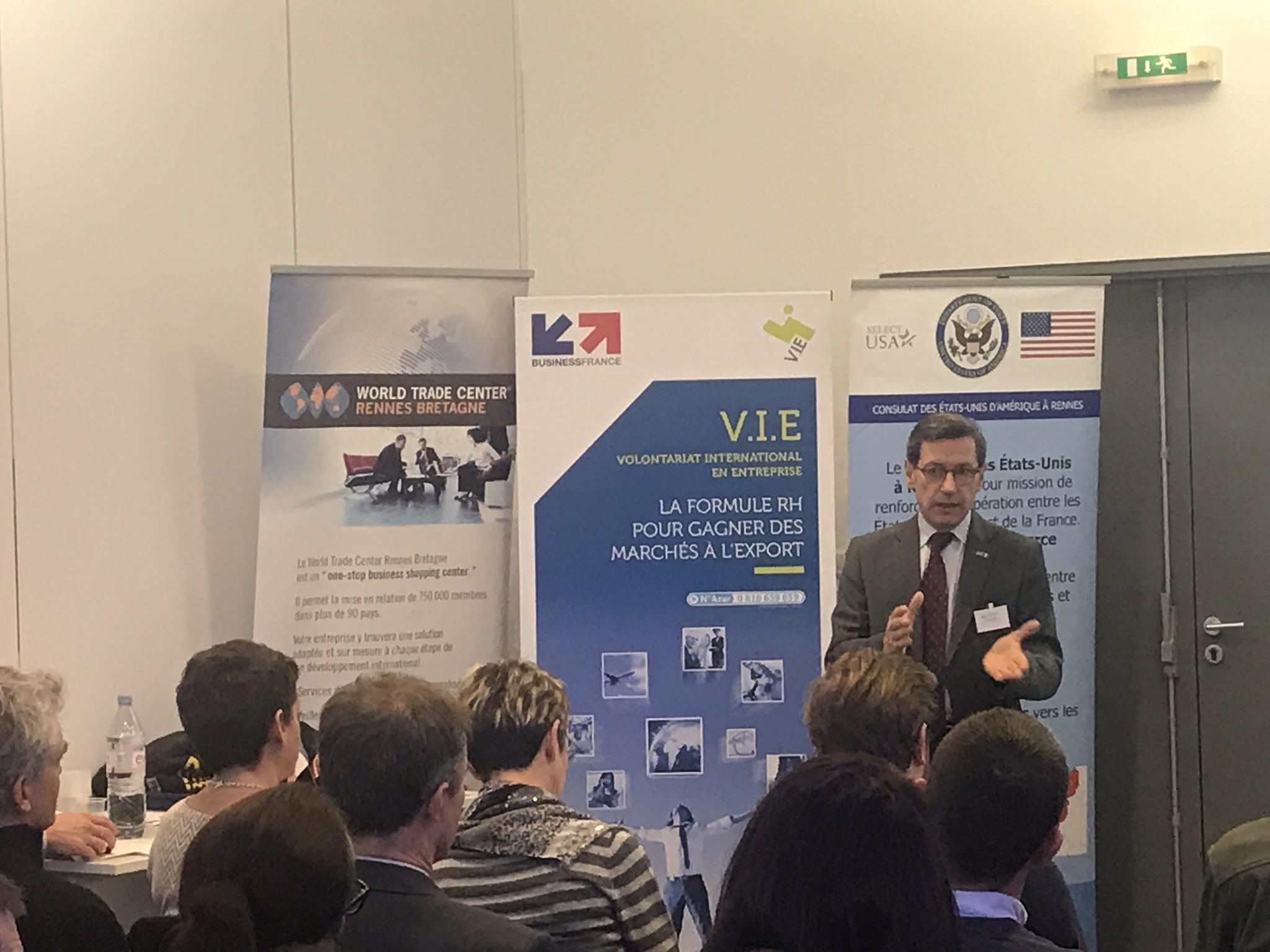 intervenant durant la conférence USA organisée par le WTC