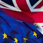 symbolisation de la séparation de l'Angleterre avec l'Union européenne
