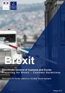 Première de couverture du Customs Guideline pour faire face au Brexit