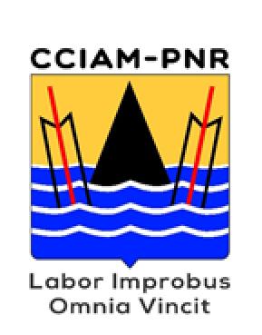 logo du CCIAM-PNR avec la devise Labor Improbus Omnito Vincit