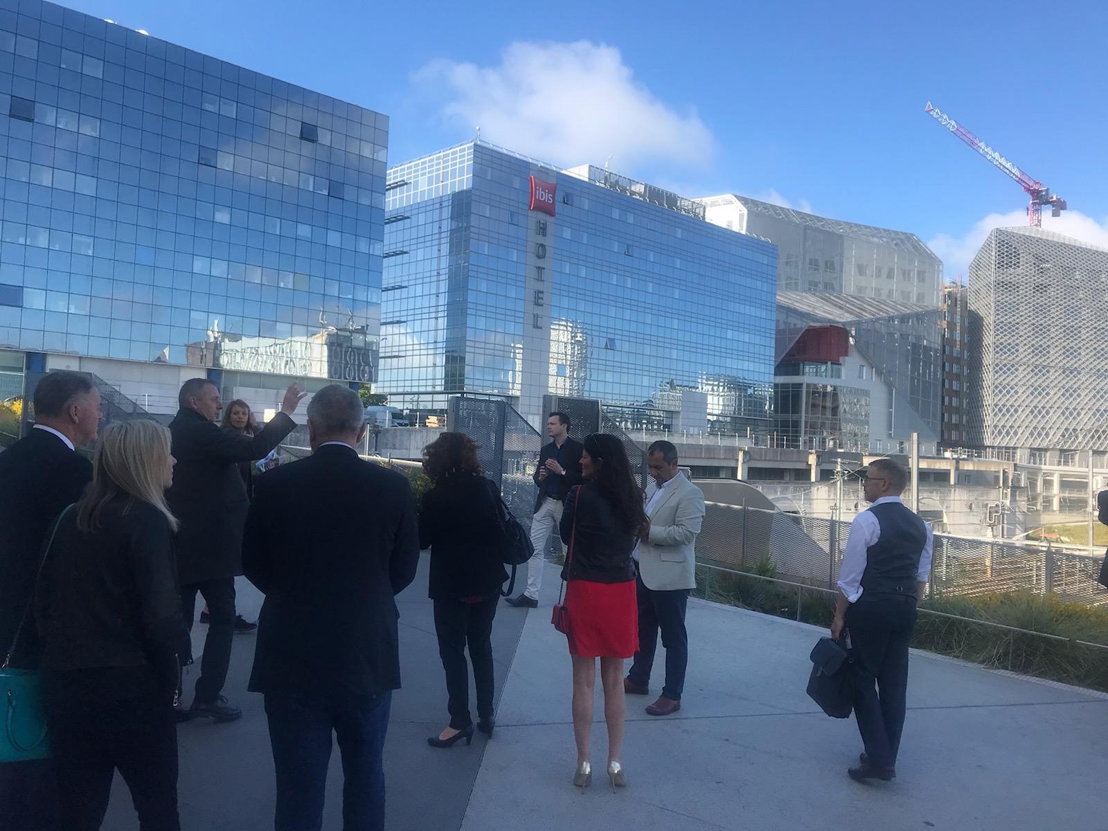 délégations de Jersey et Guernesey à l'EuroRennes