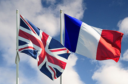 France UK flags